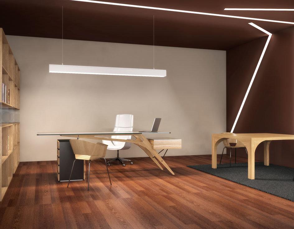Illuminazione Ufficio Direzionale.Rendering Di Uffici E Interno Ufficio Come Foto