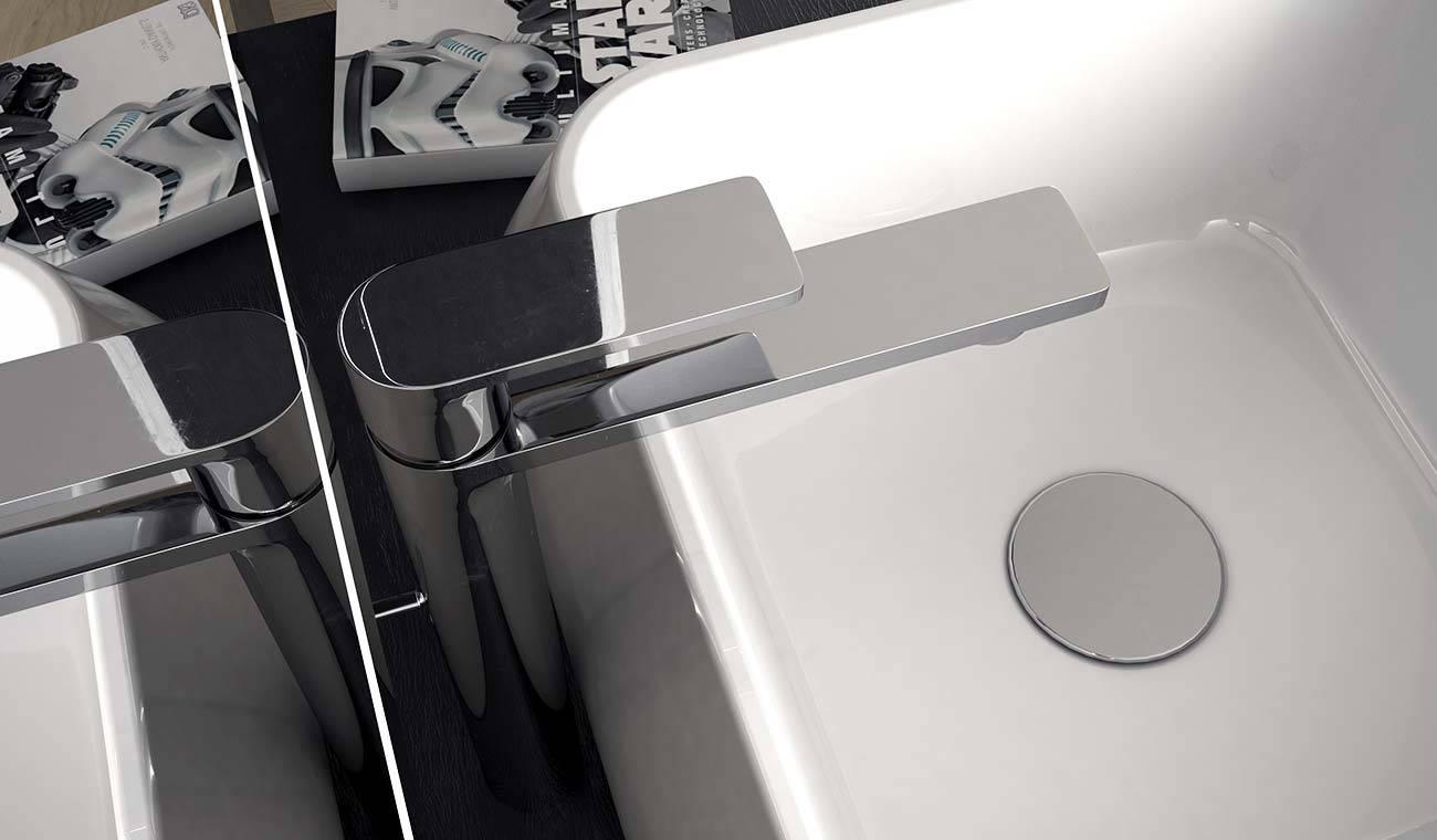 lavabo in acciaio